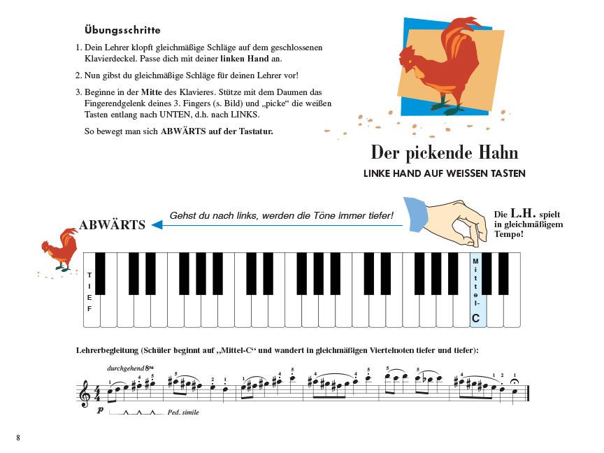 Piano Adventures® Stufe 1 Unterrichtsheft Seite 8