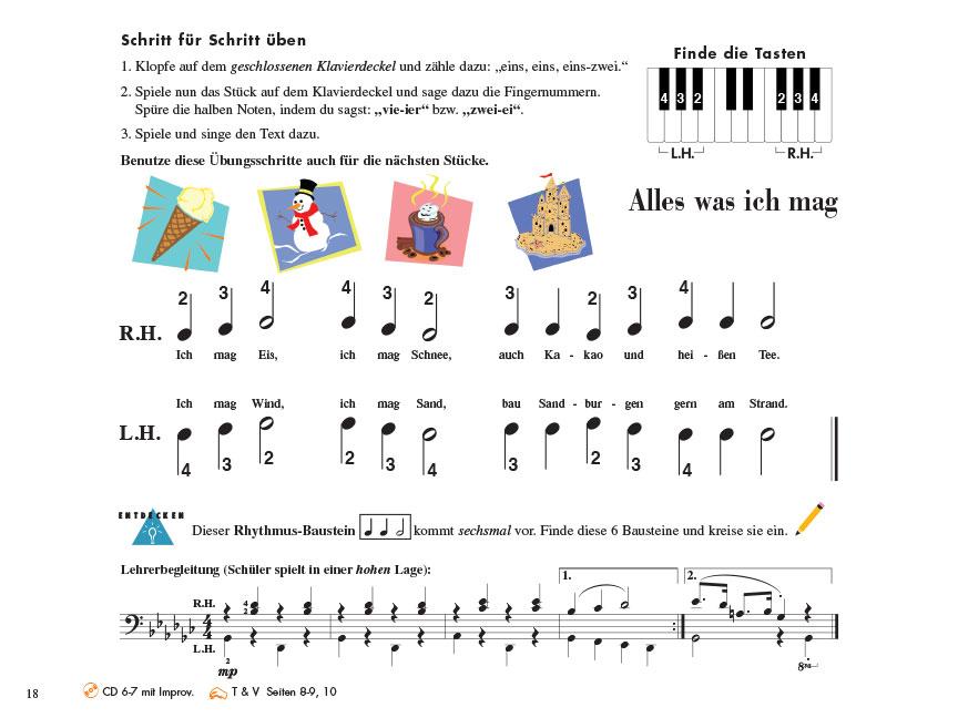 Piano Adventures® Stufe 1 Unterrichtsheft Seite 18