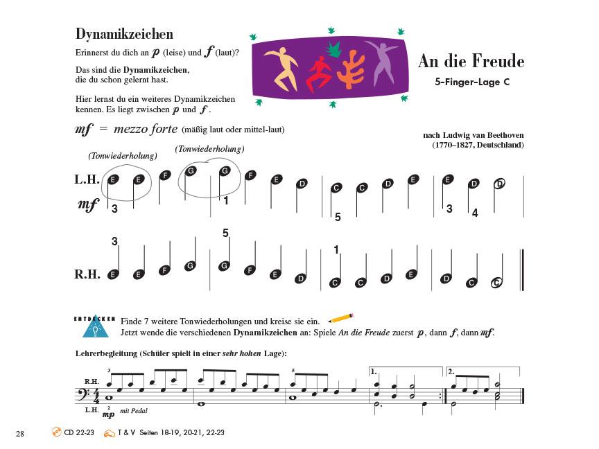 Piano Adventures® Stufe 1 Unterrichtsheft Seite 28