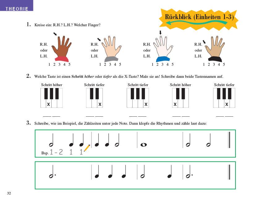 Piano Adventures® Stufe 1 Unterrichtsheft Seite 32