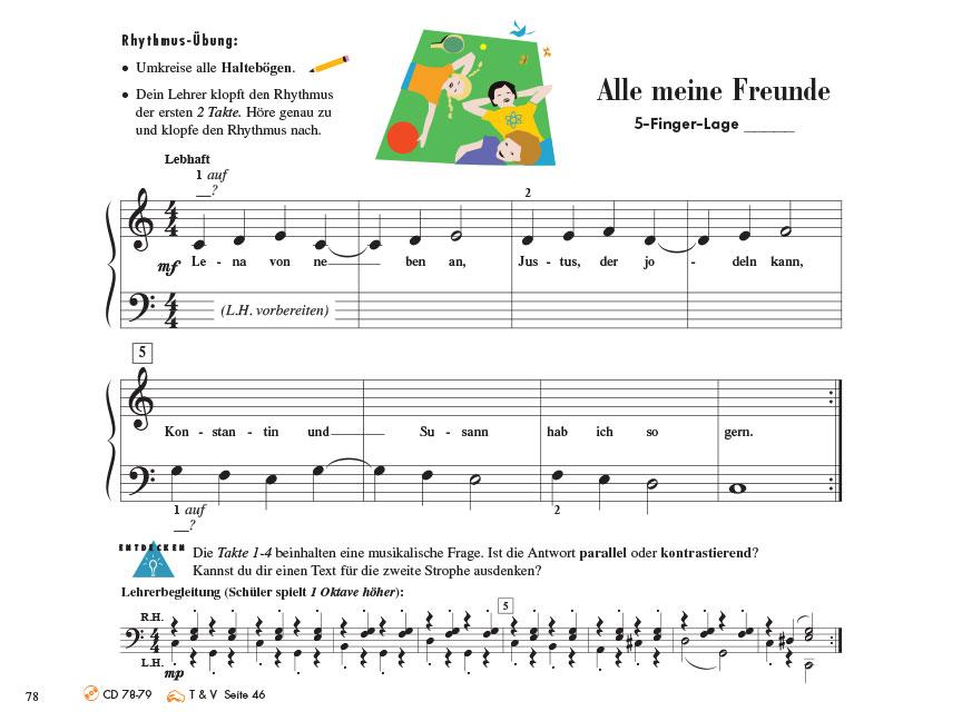 Piano Adventures® Stufe 1 Unterrichtsheft Seite 78