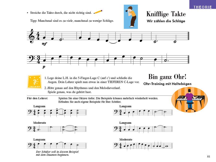 Piano Adventures® Stufe 1 Unterrichtsheft Seite 81