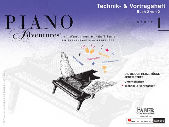 Piano Adventures® Stufe 1 Technik- & Vortragsheft