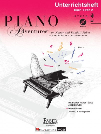 Piano Adventures® Stufe 2 Unterrichtsheft mit CD