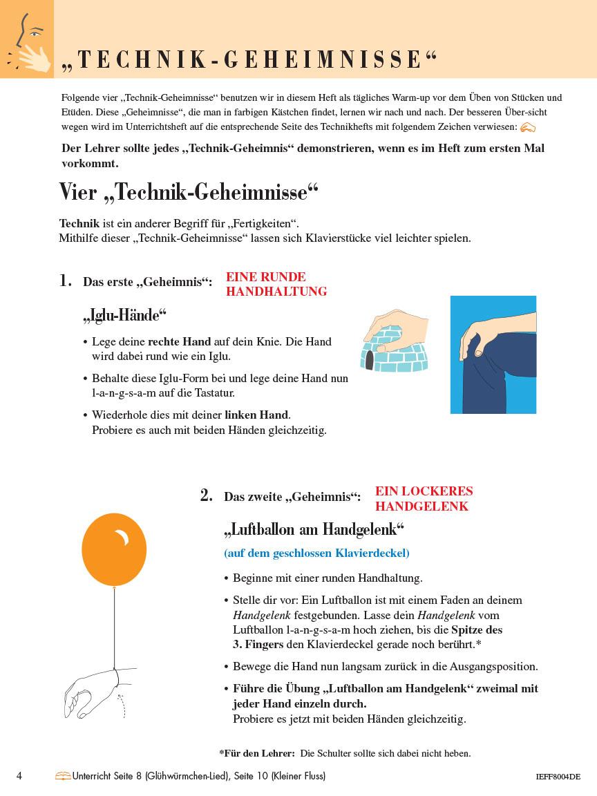 Piano Adventures® Stufe 2 Technik- & Vortragsheft Seite 4