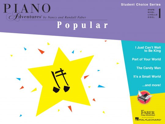 Piano Adventures Student Choice Popular Level 1