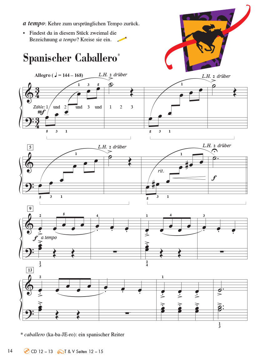 Piano Adventures® Stufe 4 Unterrichtsheft mit CD