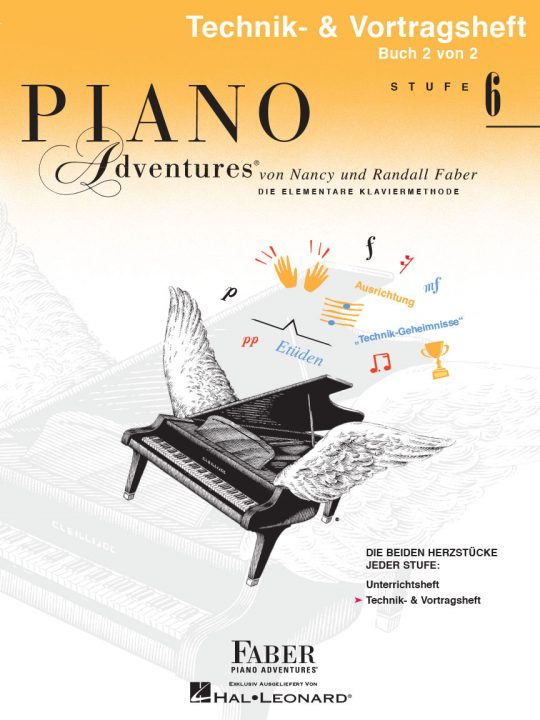 Piano Adventures® Stufe 6 Technik- & Vortragsheft